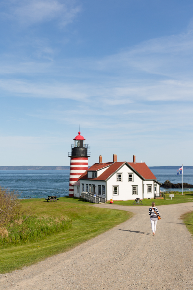 West Quoddy Head Lighthouse: Lubec, Maine