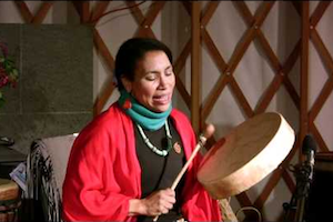 """Ruthy met Joan Henryat a concert for peace at the Old Dutch Church in Kingston and was instantly drawn to the beauty and authenticity of her pure voice and spirit. Joan is a """"song-carrier"""" preserving and sharing songs of the Arawak, Tsalagi, Dakota people. She also makes her home in the Catskills and feels a deep connection to Ashokan and the Esopus Creek. Joan's songs and stories speak of the sacred relationship between humans and the earth and provide an opportunity for us to appreciate and envision clean waters. Listen to Sunrise Song from her recording """"Kanogisgi."""""""