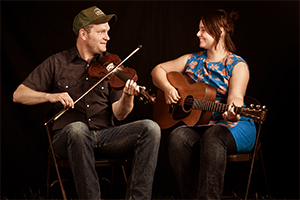 """Nadine Landry and Stephen """"Sammy"""" Lind  are members of the internationally acclaimed Foghorn Stringband, out of Portland, Oregon, USA. They play traditional fiddle music that has been passed on for hundreds of years, classics of the south west Louisiana Cajun dance halls and songs that could have filled a 50s smoky bar jukebox."""