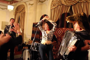 Max's New Hat is an electro-Balkan outfit that plays the dance party and wedding music of Serbia, Macedonia, Greece and Bulgaria. We are excited to welcome these feisty locals to their first Summer Hoot. Just try to sit still for this, folks!