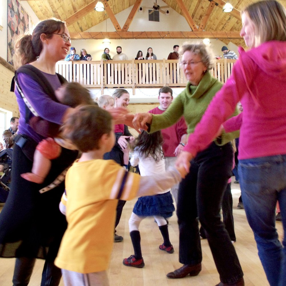 12:15 pmFAMILY SQUARE DANCE - with the Jay & Molly Family Band and Ruthy calling