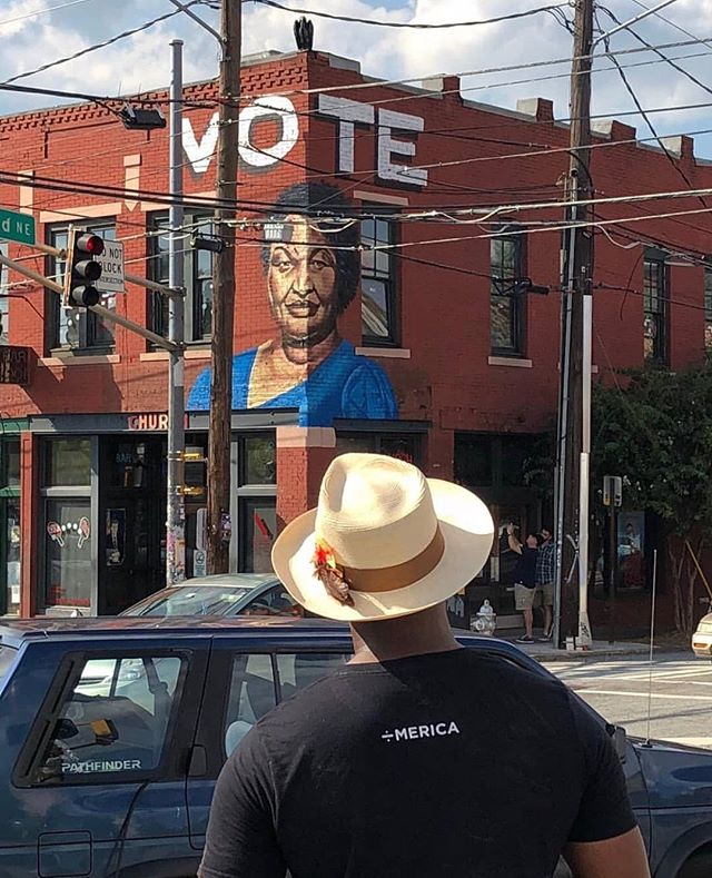 Atlanta, we love the diversity of voices in our city, and we want you all to make your voices heard today. Get to the polls today before 7pm. If you need assistance finding your polling place, you can look it up online at www.mvp.sos.ga.gov Thanks to artist Fabian Williams (@occasionalsuperstar) for this great photo and mural in O4W. #weloveatl
