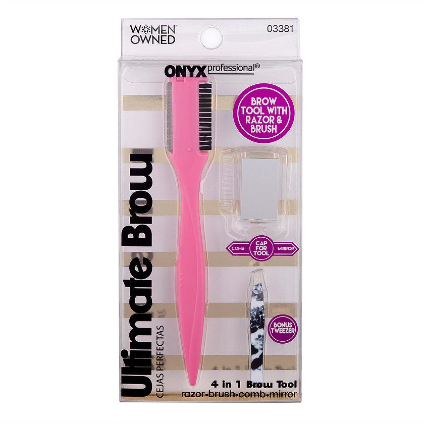 Onyx Brand Ultimate 4 in 1 Brow Tool & Tweezers