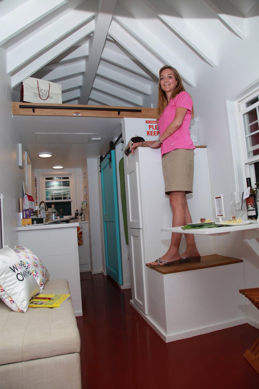 Inside 84 Lumber Tiny House