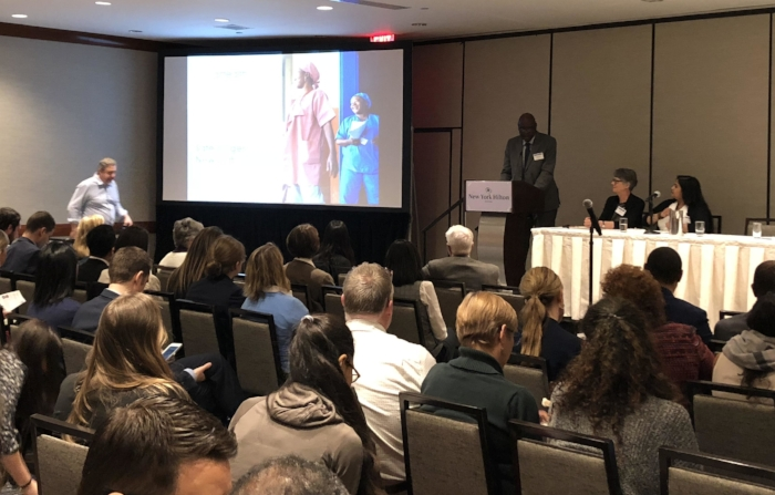Mr. Pape Gaye of IntraHealth International presents at CUGH