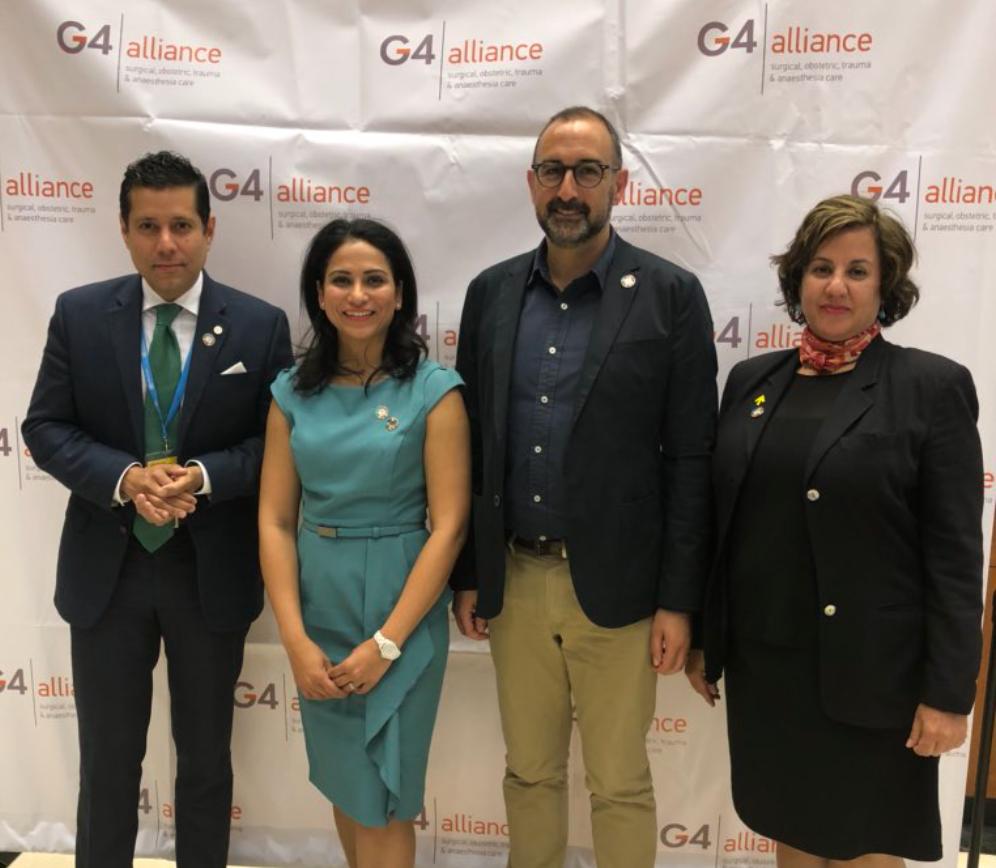Ambassador Dr. Neil Parsan, Dr. Roopa Dhatt, Mr. Saul Billingsley and Ms. Carla Eckhardt