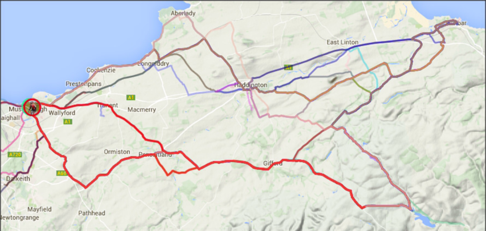 Tour of East Lothian Heatmap, credit Tom Orr via CC(no edits)