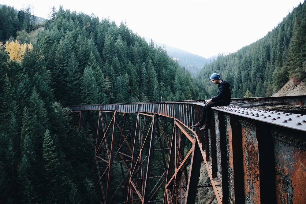 Exploring in Hope - found the Ladner Creek Trestle Bridge