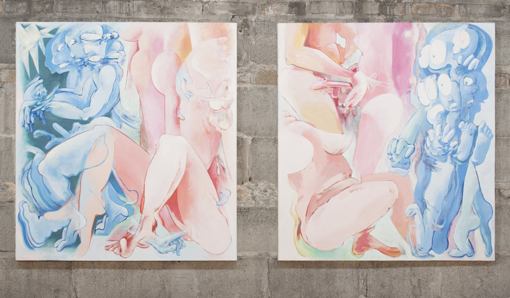 Love is the Drug oil on canvas 37x40 diptych 4800.jpg