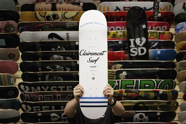 Shop decks are in 💦 #BoomingRollers #clairemontsurf