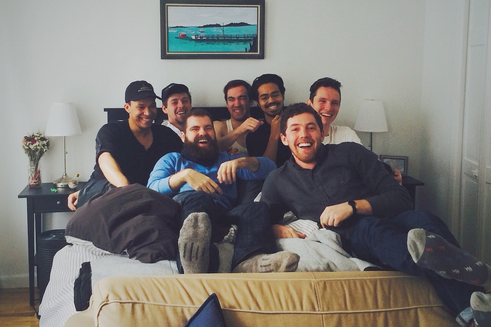 AM Zick, Travis Bogosian, Dennis Kozee, John Racioppo, Neo Sora, Cory Zapatka, and Albert Tholen united at last