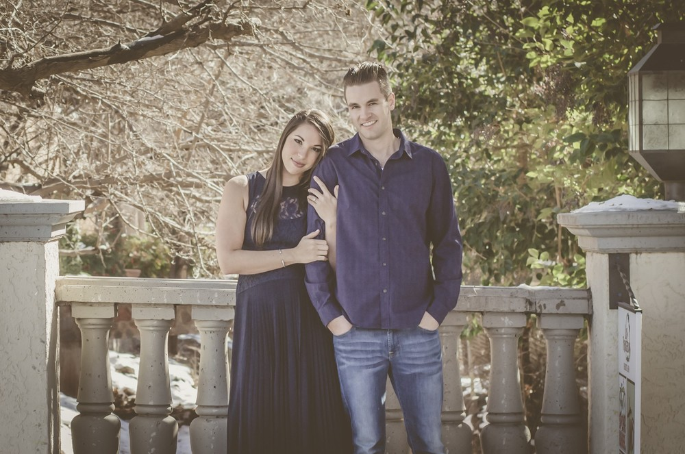 Winter Engagement Photos in Sedona