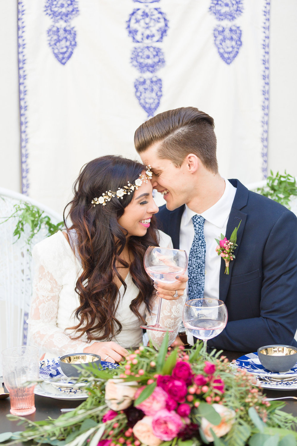 Santorini Inspired Styled Shoot featured on Inspired by This