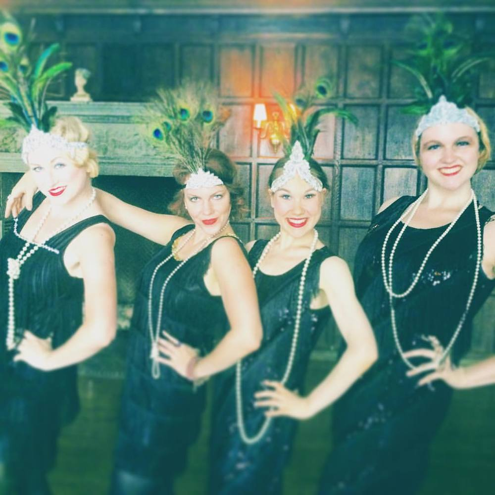 With my fellow flapper dancers at Professor Hemlock's Mansion!