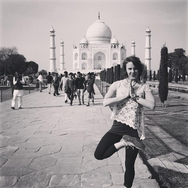 Yoga at the Taj Mahal!