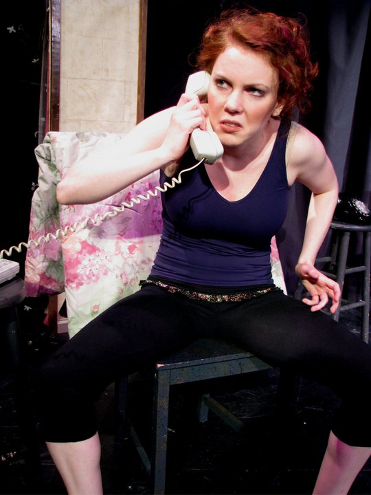 "Production still from original one-woman show ""STEPS,"" performed at Wings Theatre in NYC, 2010."