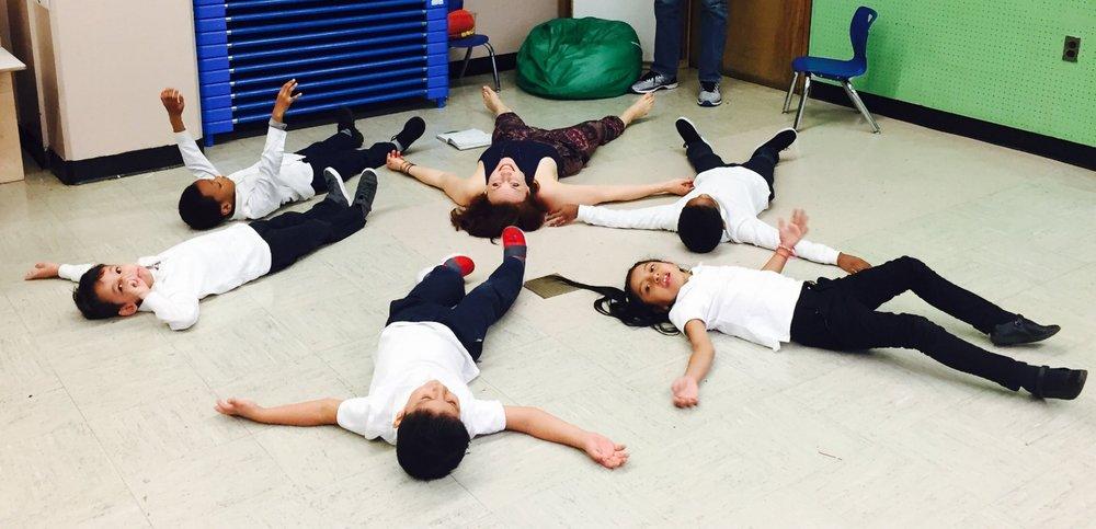 Teaching yoga through storytelling to public school kids & their parents.
