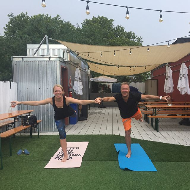 Drunk Yoga on the ROOFTOP of @ourwickedlady is moving to MONDAYS at 5:30pm starting NEXT WEEK, July 9th. Sign up in advance at www.dodrunkyoga.com. Walk-ins also welcome. 🍷🤸♀️