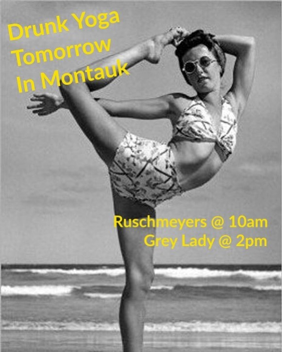 Hey Hamptons! Join us tomorrow in Montauk at 10am at @ruschmeyers with @thefreehold and 2pm at @greyladymtk 🥂🤸♀️