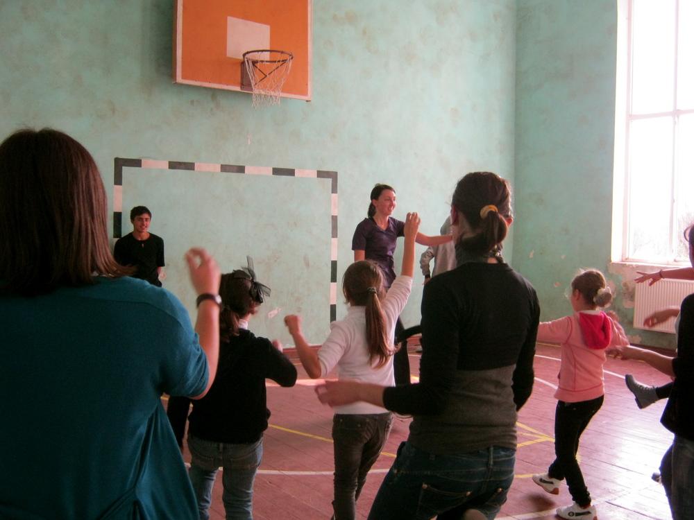 Leading a dance class