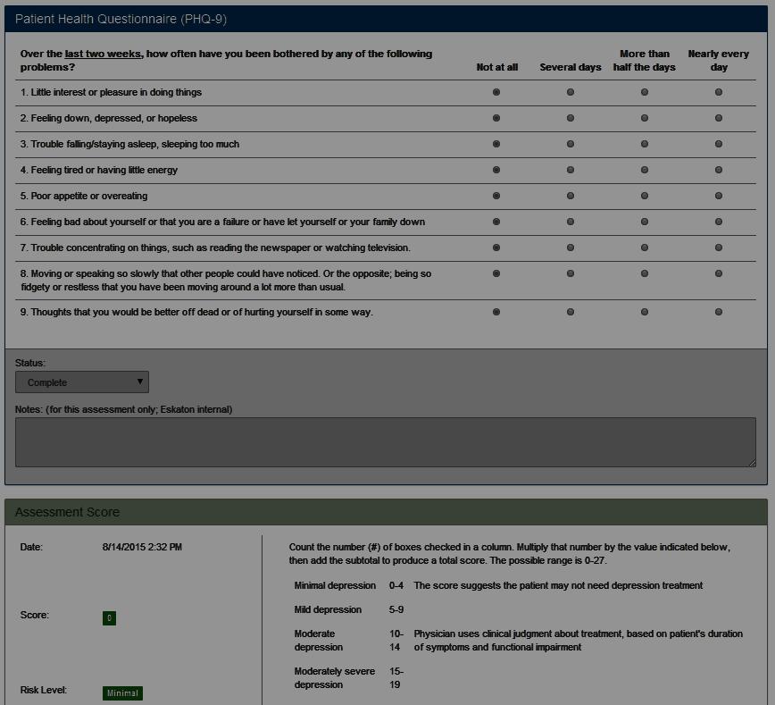 Patient Health Questionnaire (PHQ-9)