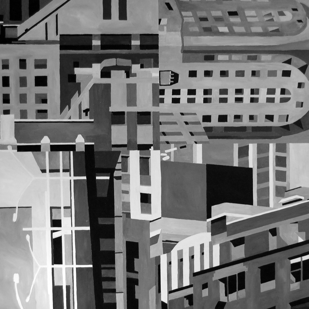 """Composition 2 36""""x36""""Acrylic on Canvas"""