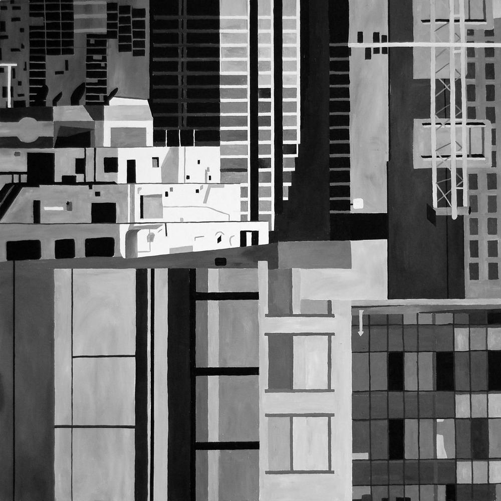 """Composition 3 36""""x36""""Acrylic on Canvas"""