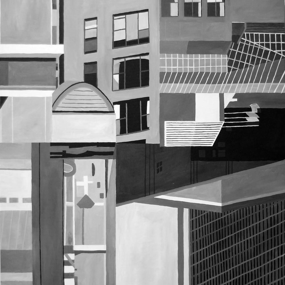 """Composition 4 36""""x36""""' Acrylic on Canvas"""