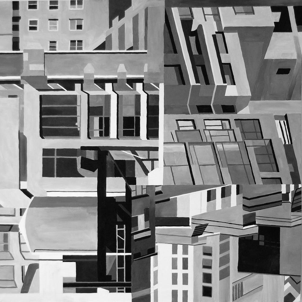 """Composition 5 36""""x36""""' Acrylic on Canvas"""