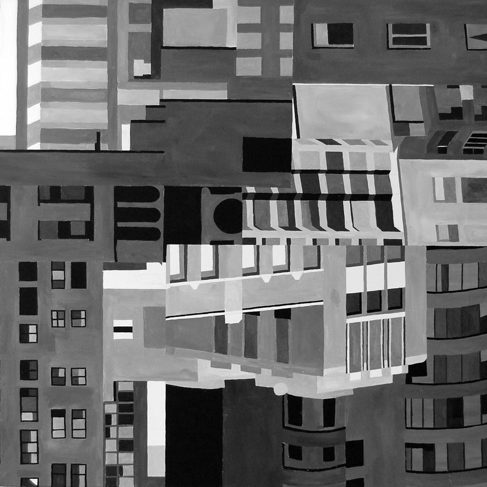 Composition 6 3'x3' Acrylic on Canvas