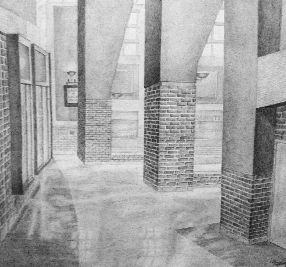 """PHS"" Graphite on Board_16""x18"""