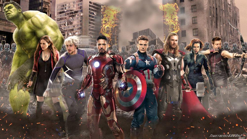 Left to right: green, white, white,  white,  white,  white,white ,  w  hite.  Not pictured: Nick Fury, James Rhodes, Sam Wilson, T'Challa.
