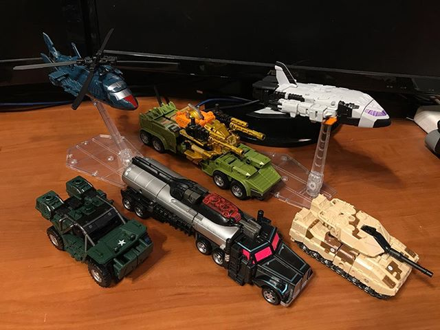 RID Decepticons: Ro-Tor, Rollbar, Mega-Octane, Scourge, Movor, and Armorhide #transformers