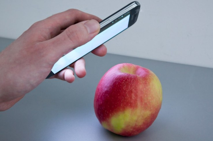 The HawkSpek app uses spectral analysis to analyse / X-Ray food, objects and their makeup (Image:TechCrunch)