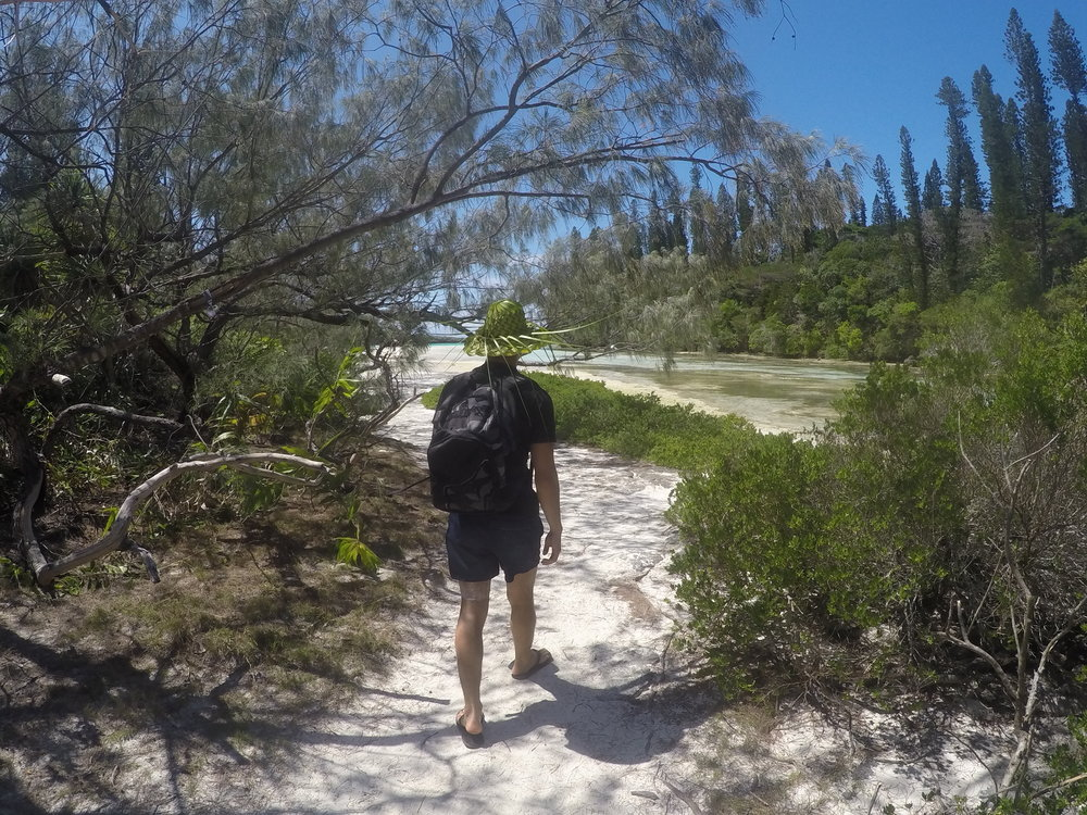 Khalil traveling in the remote island of New Caledonia.