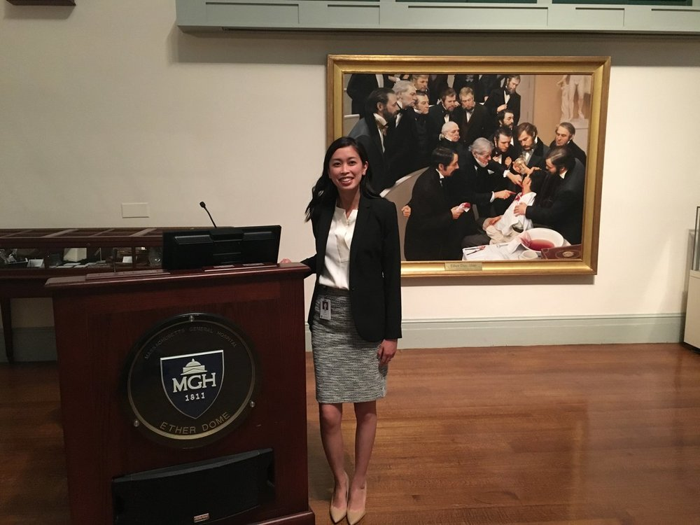 Karmel Choi at her MGH Psychiatry Grand Rounds 2018 Emerson Lecture