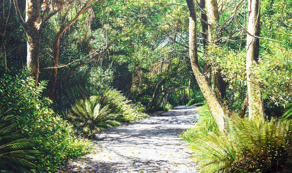 Main Track, Ross Creek Reserve, oil on canavs, 200 x 119cm