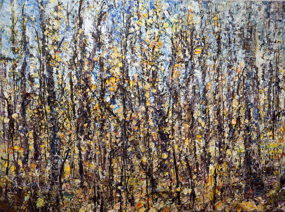 "Forest 14-10-10    2010 acrylic on canvas, 82""x108""  $35,000"