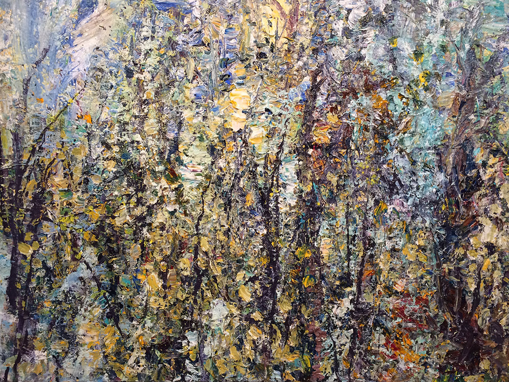 "Forest 14-5-15    2015,  acrylic on canvas . 36""x48""  $7,500"