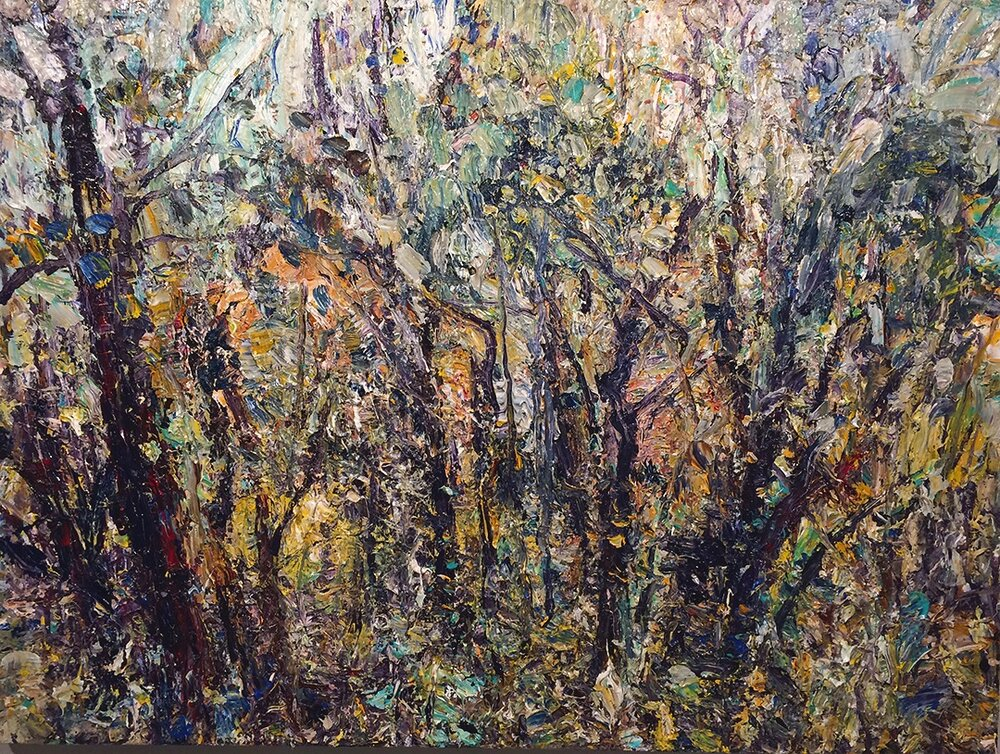 "Forest 7-9-10    2010,  acrylic on canvas  36""x48""  $7,500"