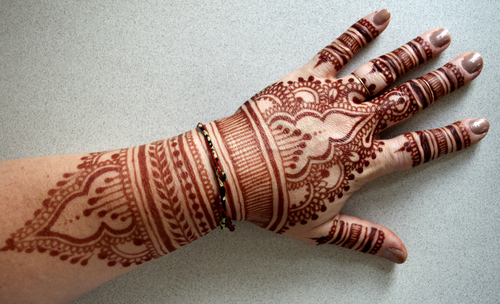 If the stain is any color other than brown or reddish brown, it's not henna!