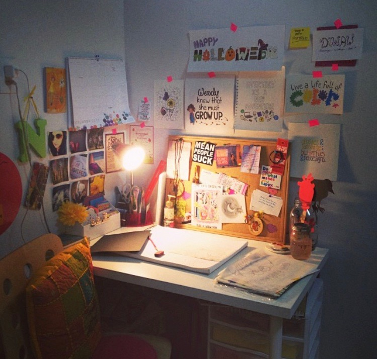 The studio gets a slight makeover, as my workload grows!