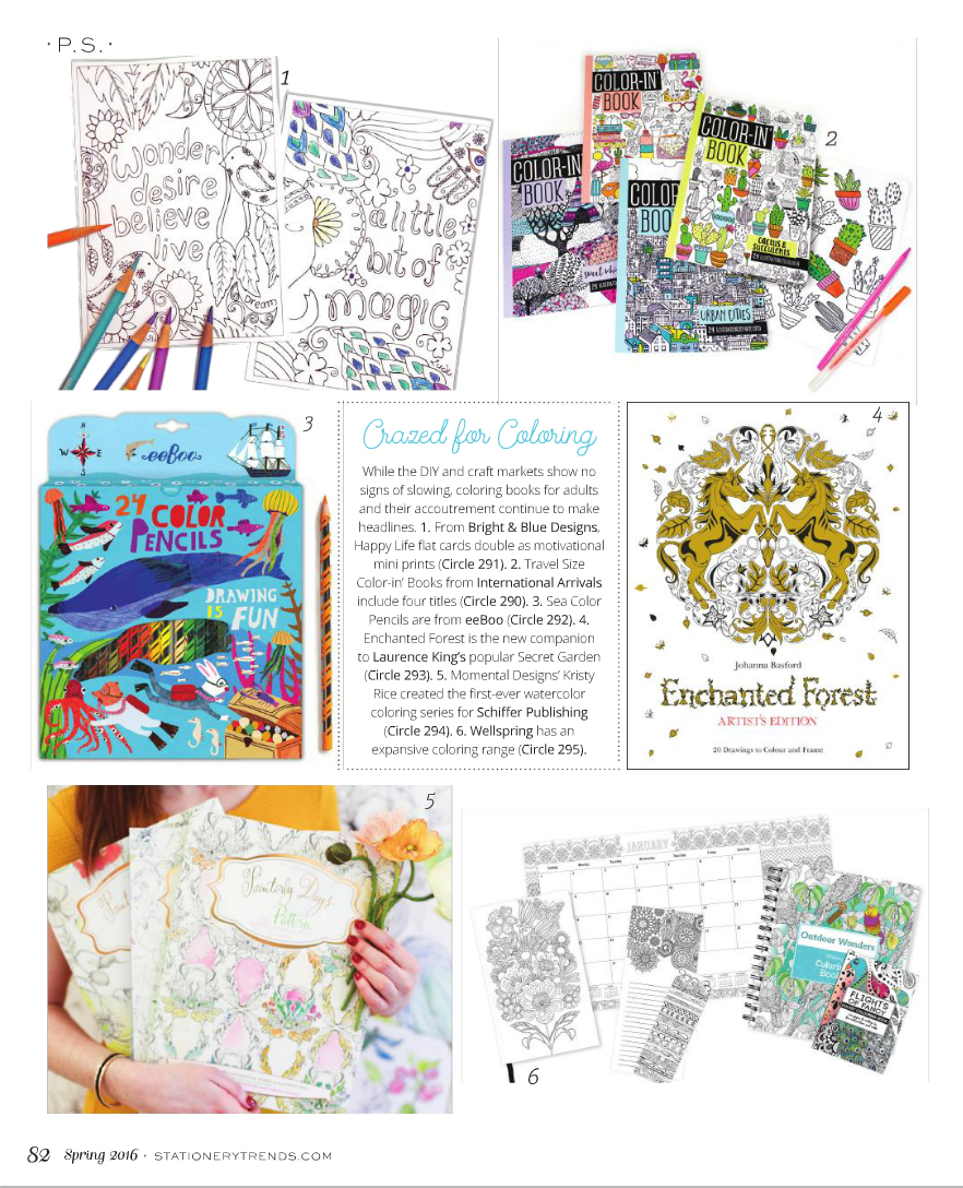 STATIONERY TRENDS, SPRING 2016