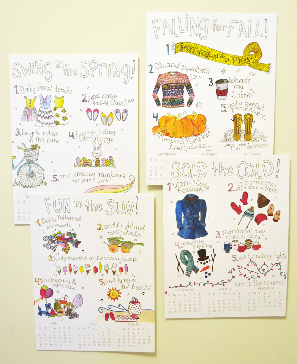 2016 Seasonal Calendar                      The Little Things!