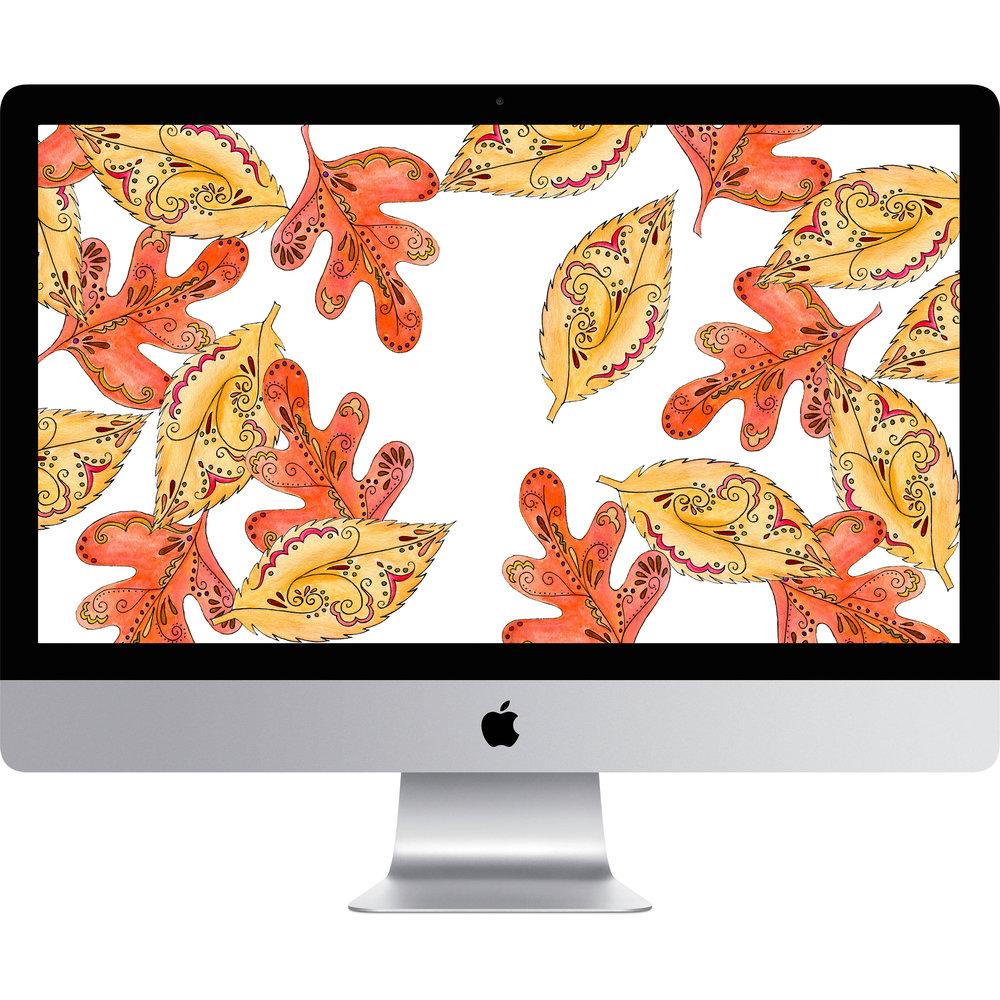 Bright & Blue Leaves November Desktop Wallpaper.jpg