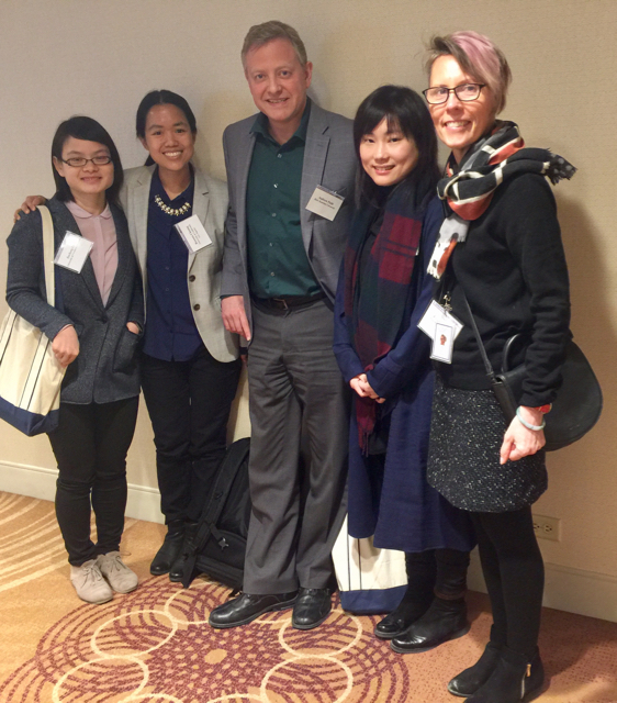 Panelists Jiacheng Liu, Roanna Cheung, Andrew Field, Fong Fong Chen, and Lisa Claypool