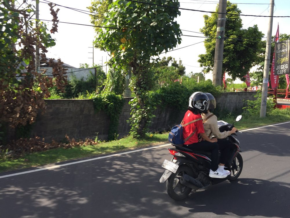 Bali. Bikes are the way to get around for most folks.