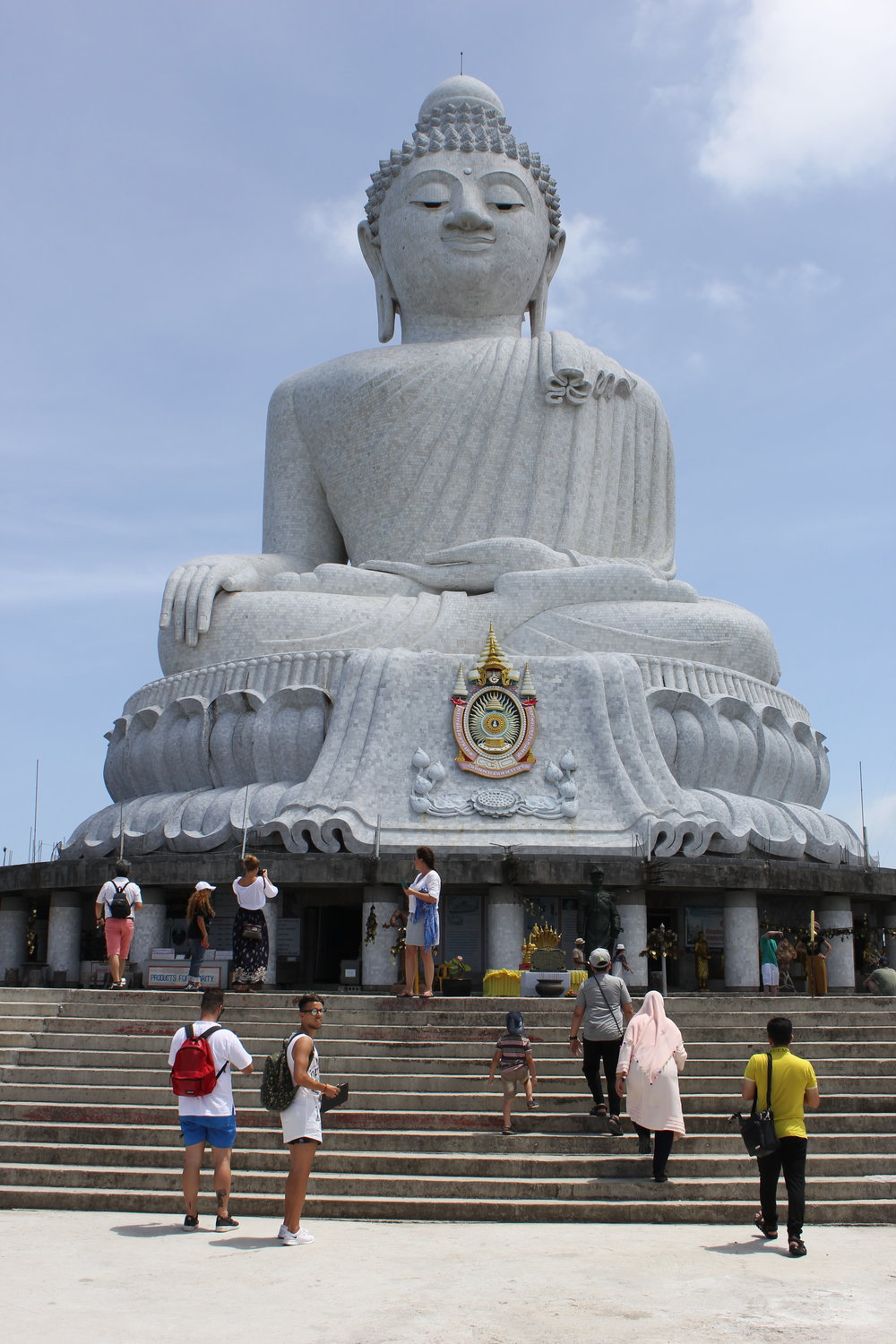 The Big Buddha looking out serenely from a mountaintop on Phuket Island