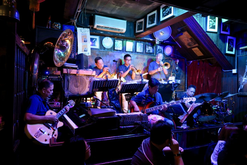 The jazz band at Ned Kelly's Last Stand in Tsim Sha Tsui, Kowloon