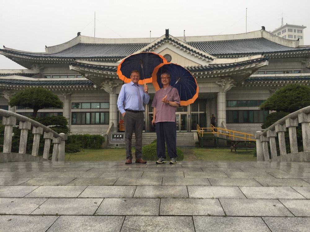 At Minjok School outside of Seoul Korea